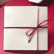 Two Roses Wedding Invitation