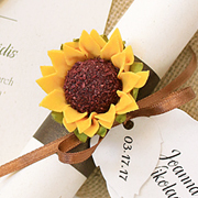 Sunflower Wedding Scroll